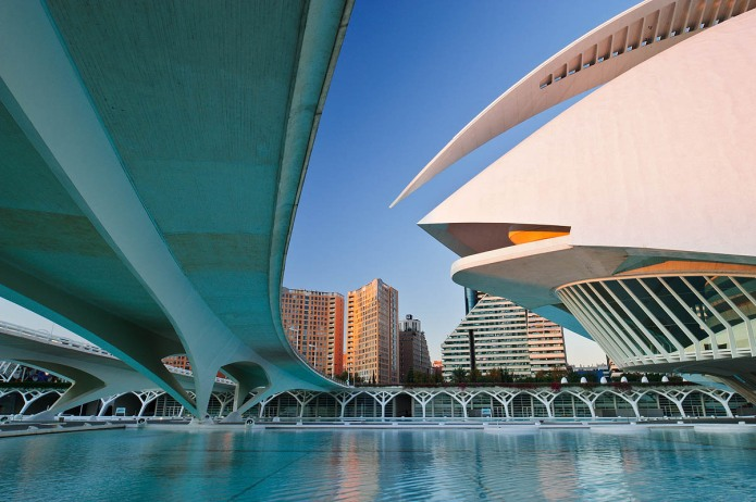 Santiago Calatrava's Palace of Arts in Valencia City of Arts and Sciences