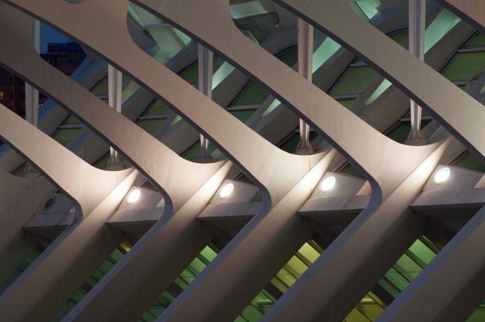 Detail of Santiago Calatrava's Valencia City of Arts and Sciences
