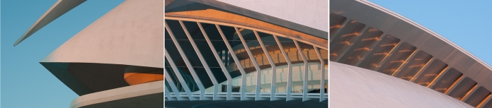 Detail of Palace of Arts in Valencia City of Arts and Sciences
