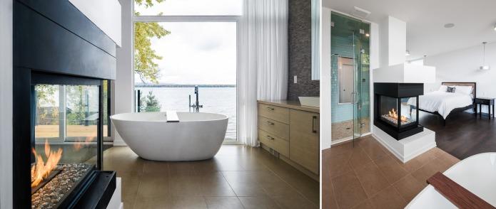 Chris Simmonds Master bedroom and bathroom
