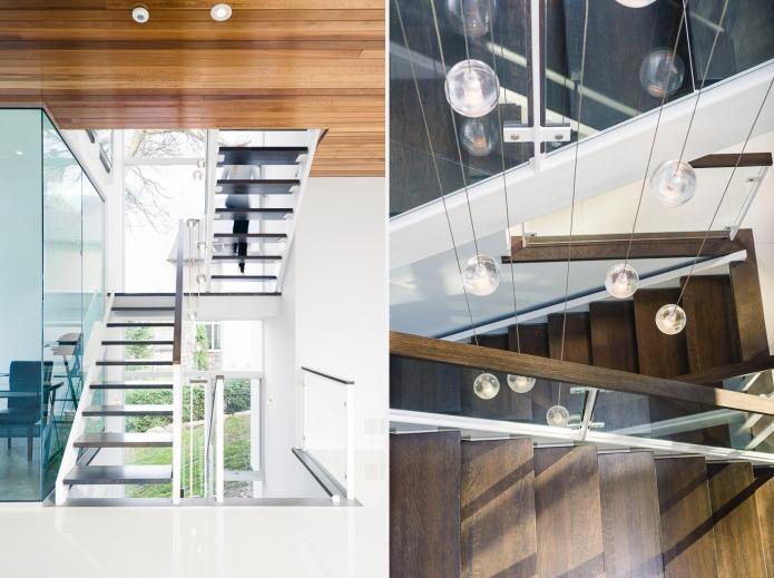 Chris Simmonds glass staircase of Ottawa River House