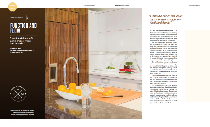 toronto homes Kitchen issue 2013