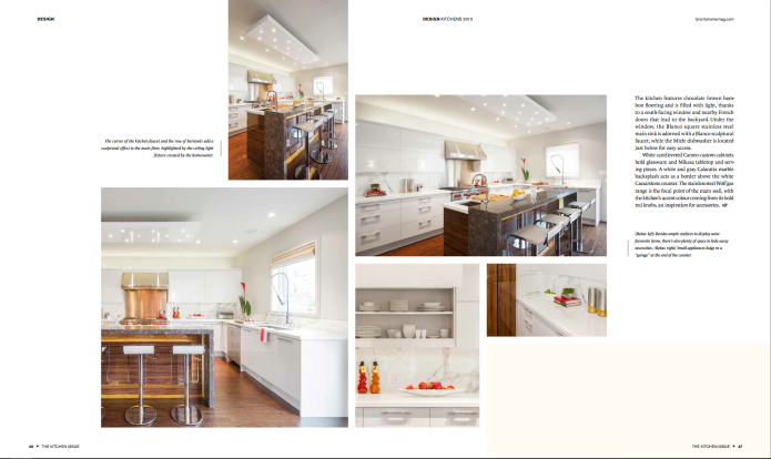 toronto homes Kitchen issue 2013