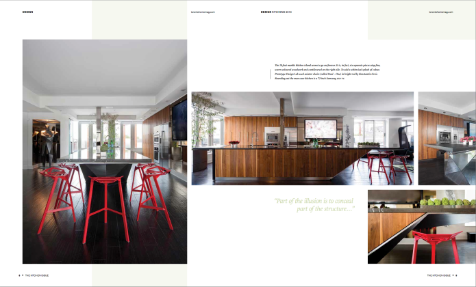 toronto home magazine Kitchen issue 2013