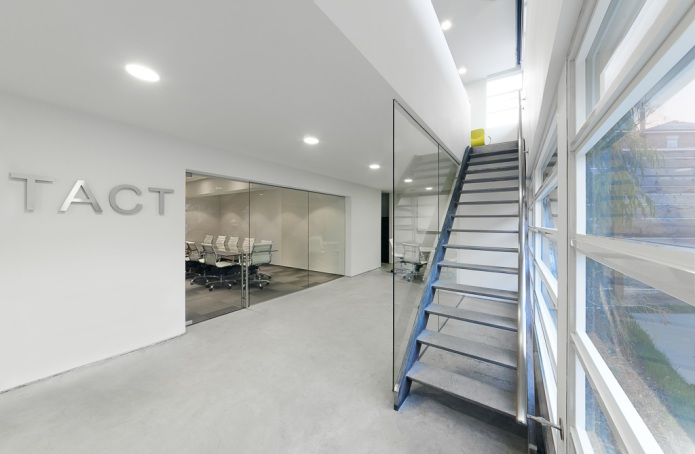 TACT design and architecture office interior pure white