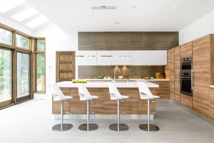 modern, minimalist kitchen photograph