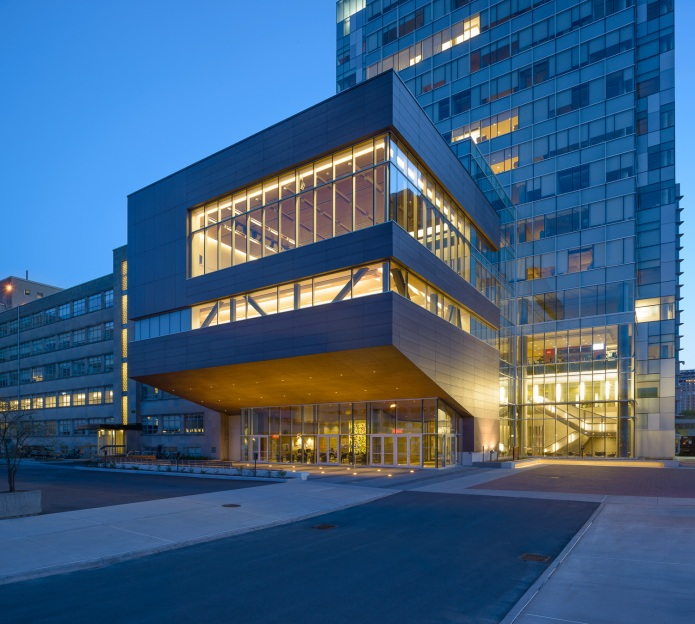 The Eastern Facade at dusk - University of Ottawa Faculty of Social Sciences by Diamond Schmitt