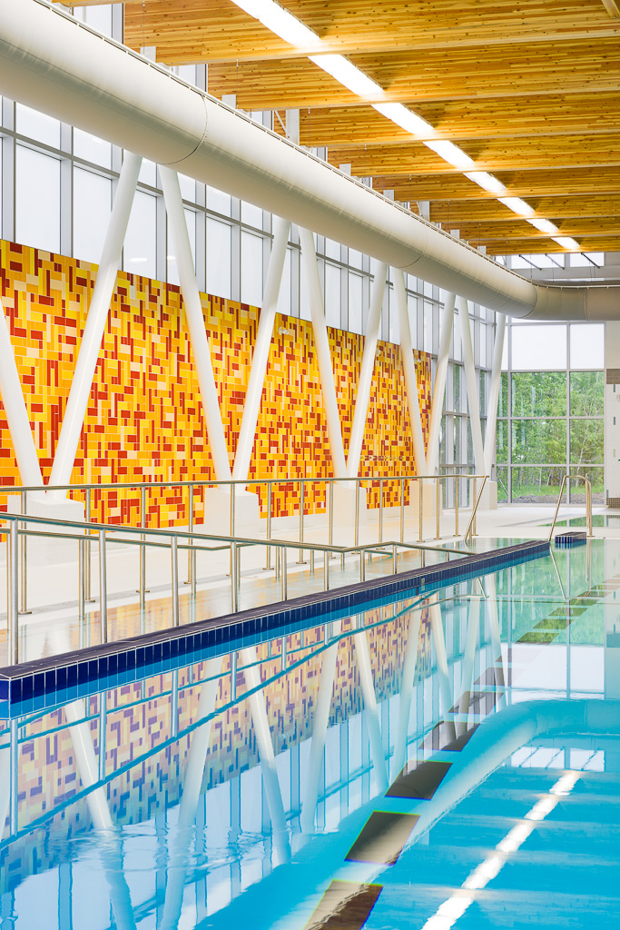 Francois Dupuis Rec Centre pool reflections - City of Ottawa