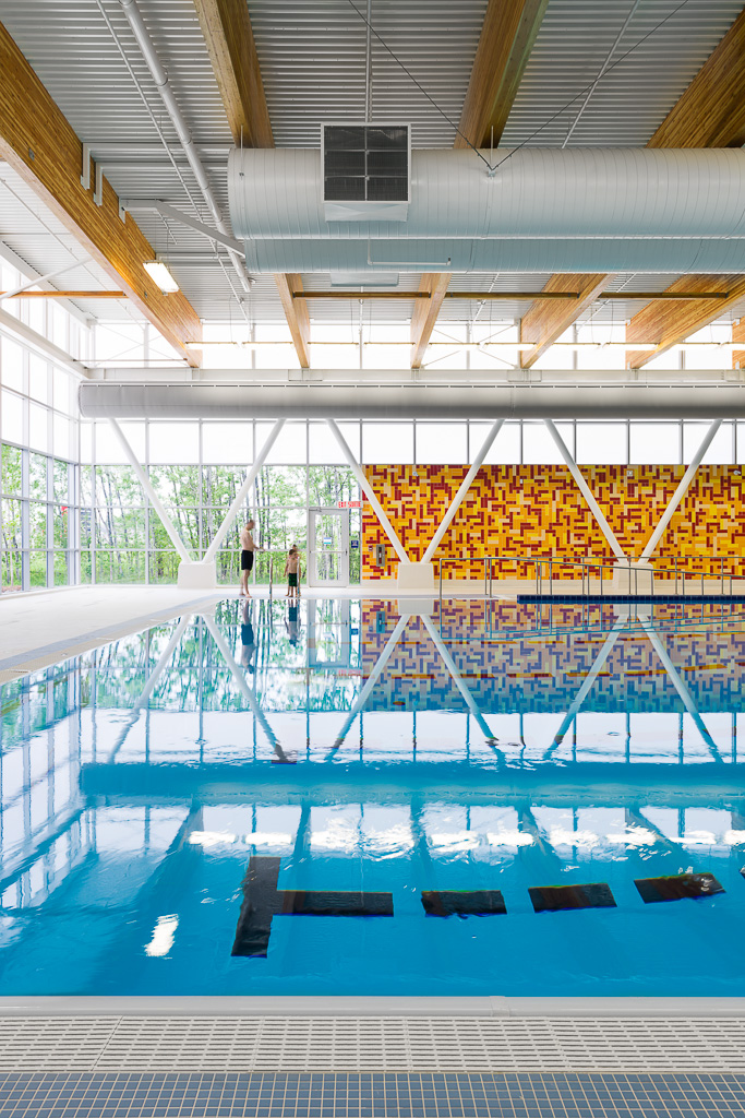 Bathers at City of Ottawa's East Pool by GRC Architects