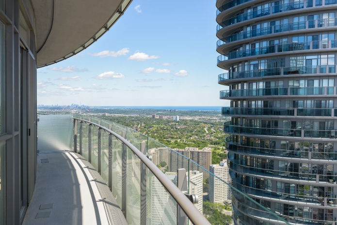 Downtown toronto from the 58th floor of MAD architects Marilyn Monroe Mississauga Absolute Towers