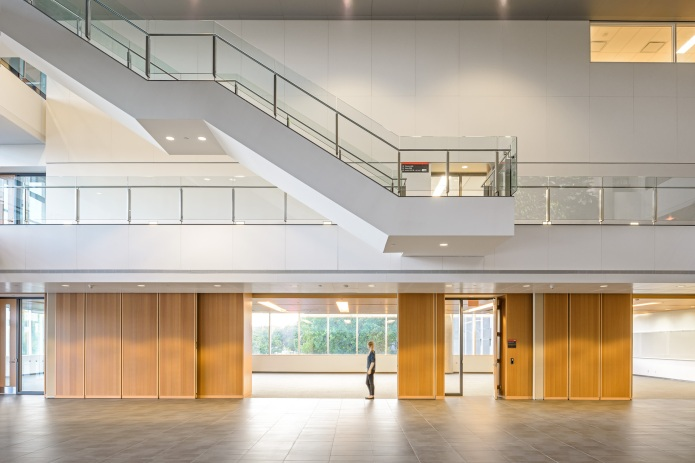 carleton university river building three-storey atrium by Moriyama Teshima GRC architects
