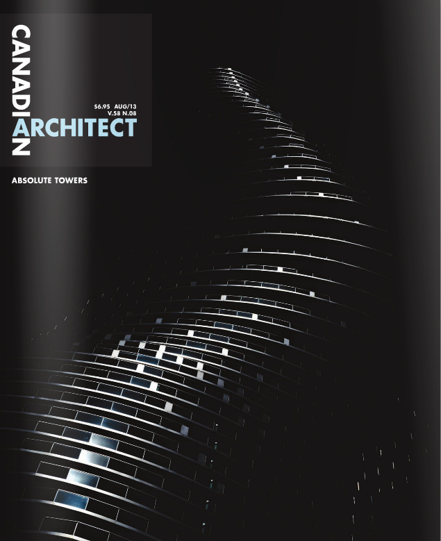 doublespace toronto architectural photograph Canadian Architect Cover August 2013