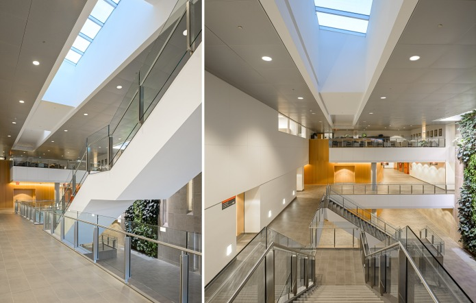 carleton university river building feature staircase by Moriyama Teshima GRC architects