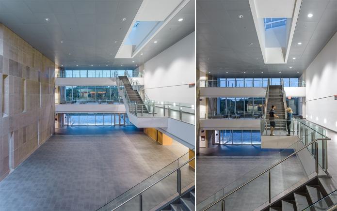 atrium of the Carleton University River Building by Toronto Architects Moriyama & Teshima and GRC