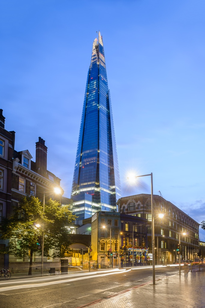 London's The Shard by Renzo Piano at dusk