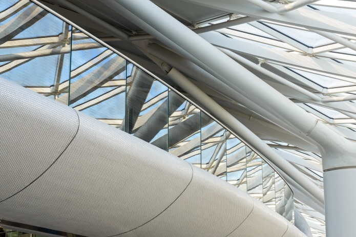 Detail of the ceiling at London's King's Cross Train Station by McAslan and Partners