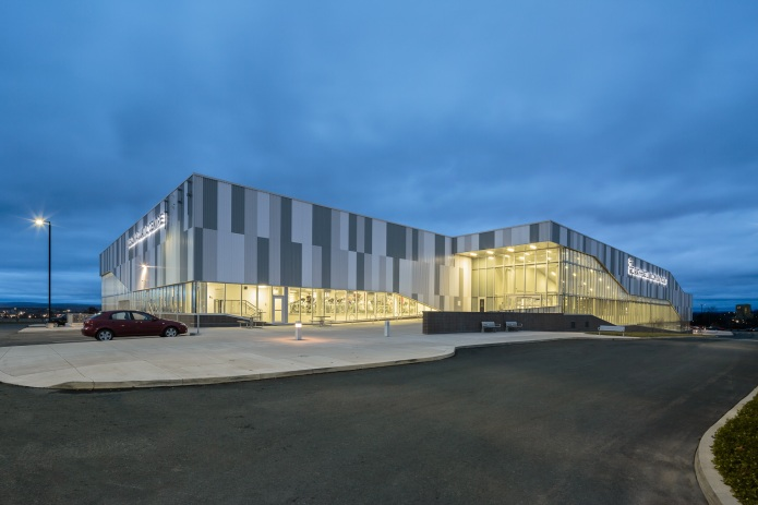 Rath Eastlink Truro Perkins Will doublespace architecture photography exterior at twilight