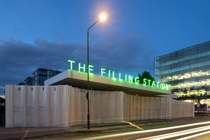 doublespace architectural photography london KXFS Filling Station Carmody Groake sunset exterior