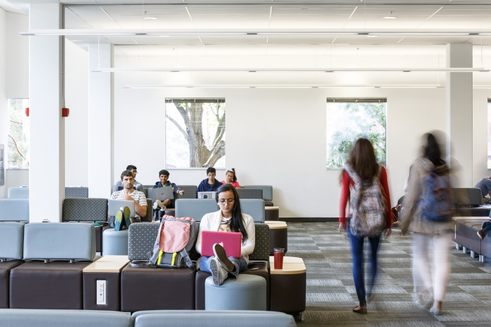 students in the main reading room