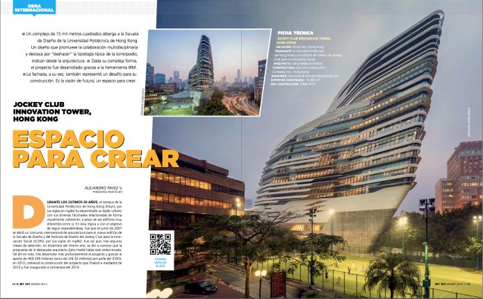 Zaha Hadid Innovation tower in BiT magazine Chile