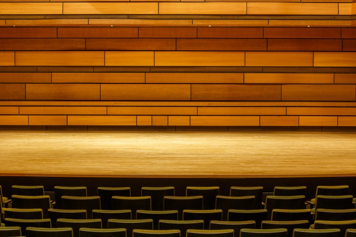 Abstract image from the performance hall at the Isabel Bader Centre