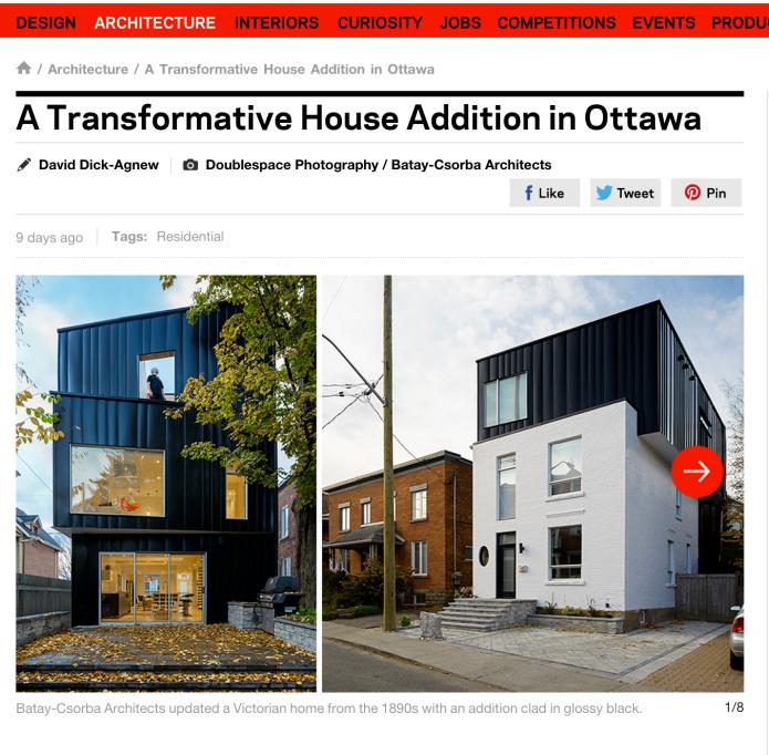 Batay-Csorba's Glebe House is in Azure Magazine